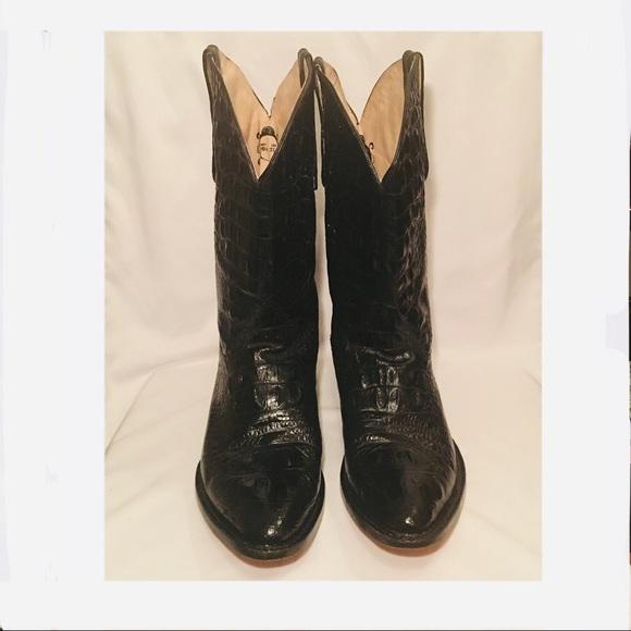 Buitre Mens Alligator Cowboy Boots